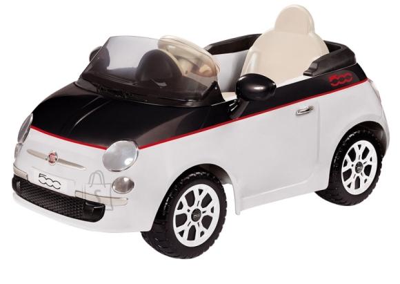 Elektriauto lastele Fiat 500 12V valge-must