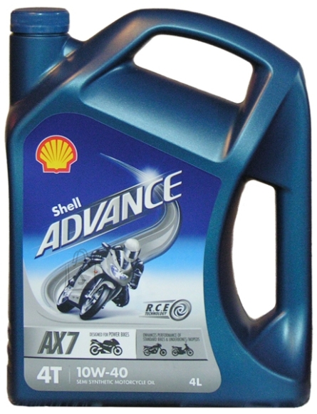 Shell Shell Advance AX7 4T 10W-40 4l