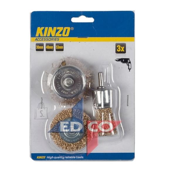Kinzo traatharjade komplekt 3 tk