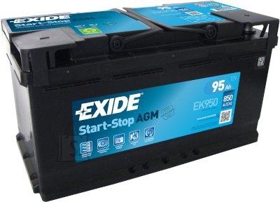 Exide Start autoaku AGM 95Ah 850A 353x175x190 -+