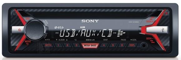 Sony CD-mängijaga autoraadio 4x55W punane USB