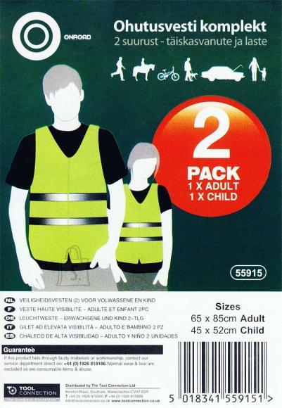 Onroad ohutusvest kollane + laste vest tasuta