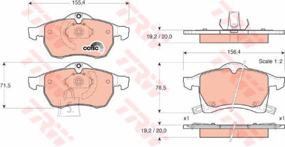 *Piduriklotsid Opel Astra H