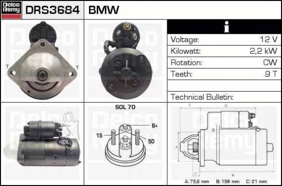 STARTER BMW 2,2KW +KORPUS
