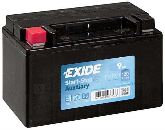 Exide START AGM 9Ah 120A 150x90x105+-