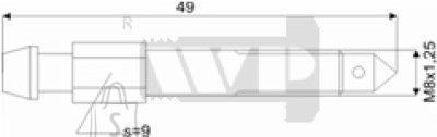 Õhutusnippel 8X1,25 S9 49mm