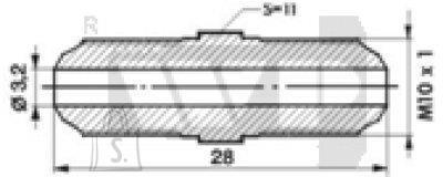Toruliide väliskeere OEE 10x1