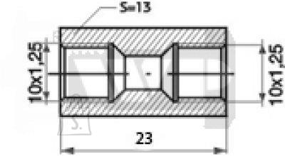 Toruliide sisekeere 10x1,25