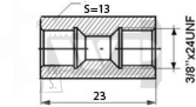 Toruliide sisekeere 3/8x24UNF