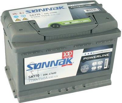 SONNAK POWERLINE 77Ah 760A 278x175x190-+