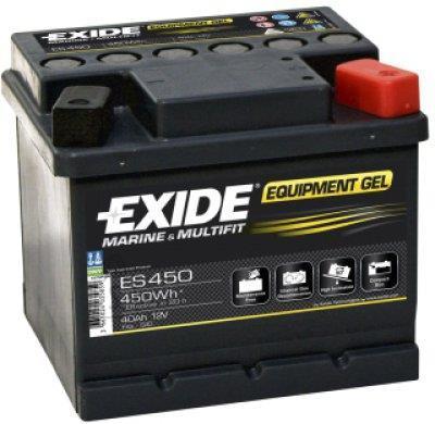 Exide EQUIPMENT GEL 40Ah 450Wh 210x175x125-+