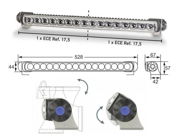 Hella Hella LED 470 Single Twin lisakaugtuli