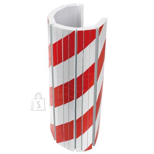 Lampa Ohutusteip kleebitav 50*40cm valge-punane