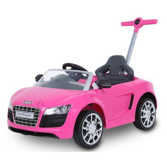 Audi lükatav auto roosa