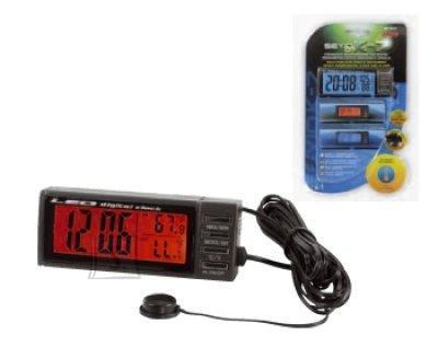 Lampa digitaalne kell kalendri ja termomeetriga