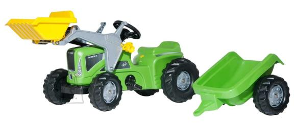 Rolly Toys Rolly Kiddy Futura pedaalidega traktor käru ja kopaga