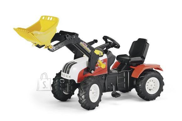 Rolly Toys Steyr CVT170 pedaalidega mängutraktor kopaga