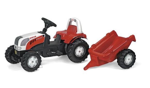 Rolly Toys Rollykid Steyr pedaalidega traktor lastele käruga