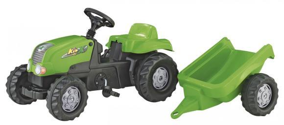 Rolly Toys pedaalidega traktor Rollykid koos käruga