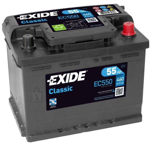 Exide aku Classic 55Ah 460A 242x175x190 -+