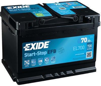 Exide Aku Micro-Hybrid 70Ah 630A 278x175x190 -+