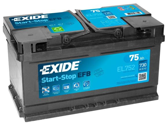 Exide Start EFB (ECM) aku 75Ah 730A 315x175x175-+