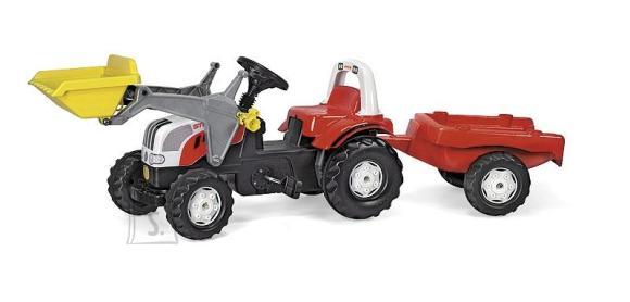 Rolly Toys Rollykid Steyr pedaalidega traktor lastele käru ja kopaga