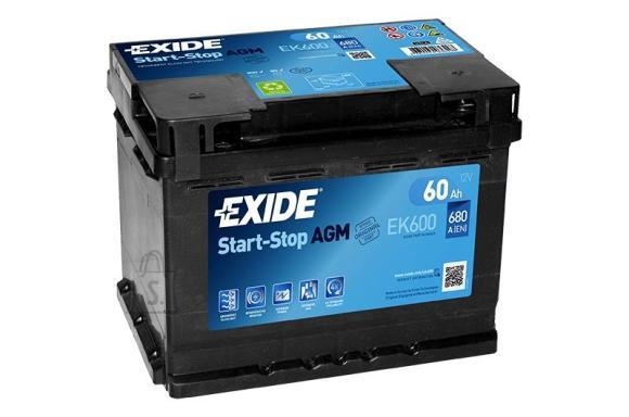 Exide Aku Start AGM 60Ah 680A 242x175x190 -+