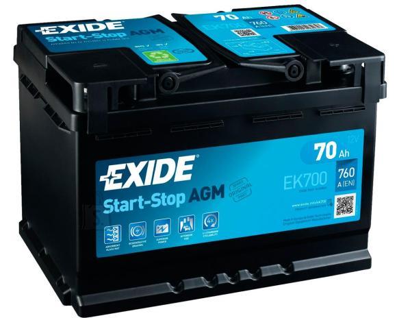 Exide Aku Start AGM 70Ah 760A 278x175x190 -+