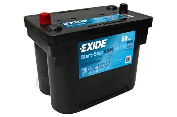 Exide Start AGM aku 50Ah 800A 260x173x206-+