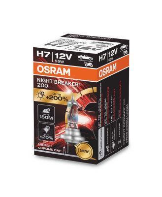 Osram H7 12V 55W Night Breaker 200 +200% 1tk