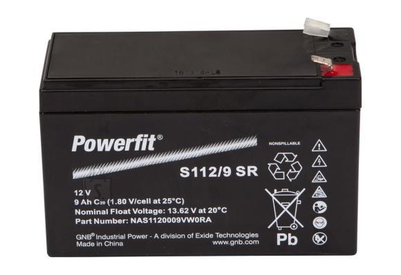 Powerfit 12V 9Ah AGM 151x65x99mm
