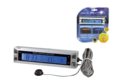 Lampa digitaalne kell kalendri ja sise -ja välistermomeetriga