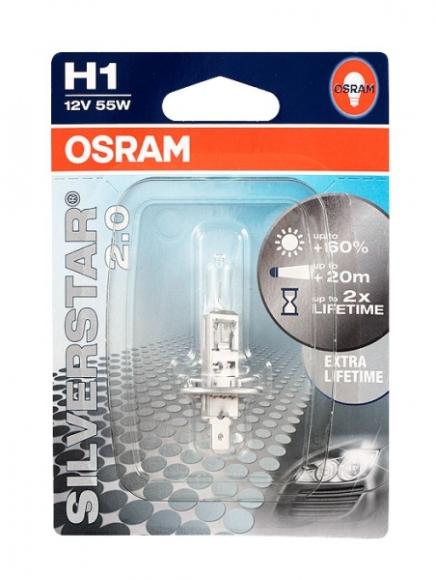 Osram Autolamp Silverstar 2.0 12V H1 55W P14.5S