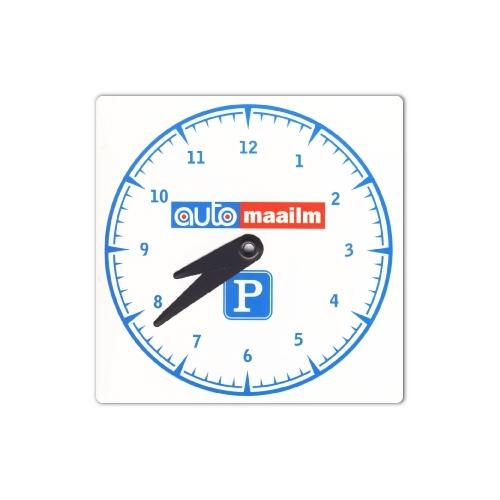 Parkimiskell Automaailma logoga, kartong