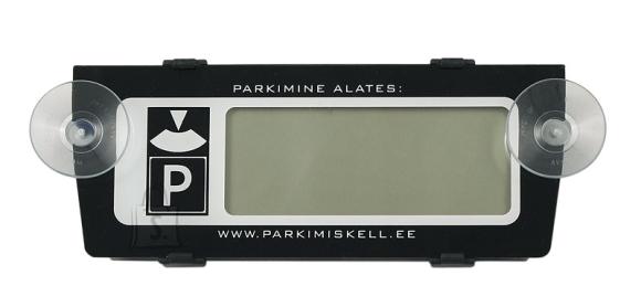 Elektrooniline parkimiskell, must