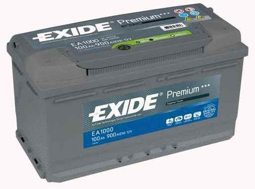 Exide Aku Premium 100Ah 900A 353x175x190 -+