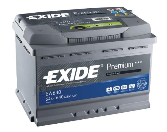 Exide Aku Premium 64Ah640A 242x175x190 -+