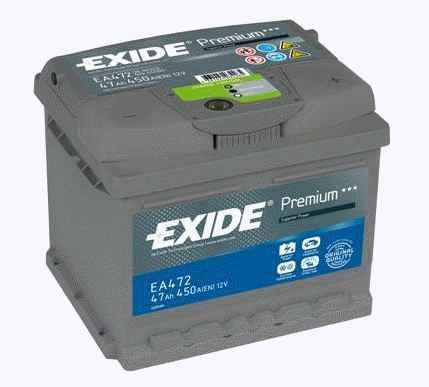 Exide Aku Premium 47Ah450A 207x175x175 -+