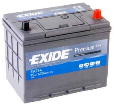 Exide Aku Premium 75Ah 630A 270x173x22