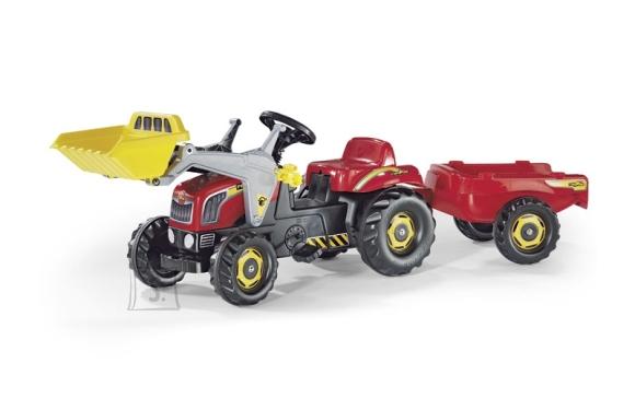 Rolly Toys Rollykid pedaalidega traktor lastele käru ja laaduriga