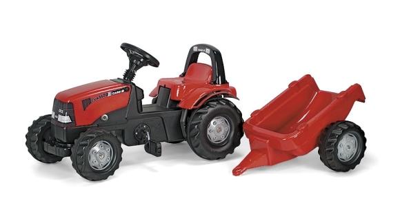 Rolly Toys Rollykid Case pedaalidega traktor lastele käruga