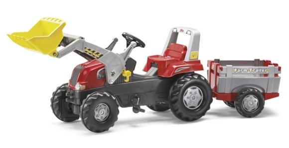 Rolly Toys RT pedaalidega traktor lastele käru ja kopaga