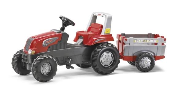 RT pedaalidega traktor lastele käruga