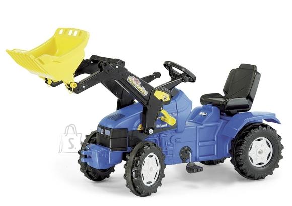 Pedaalidega traktor lastele New Holland TM175 kopaga