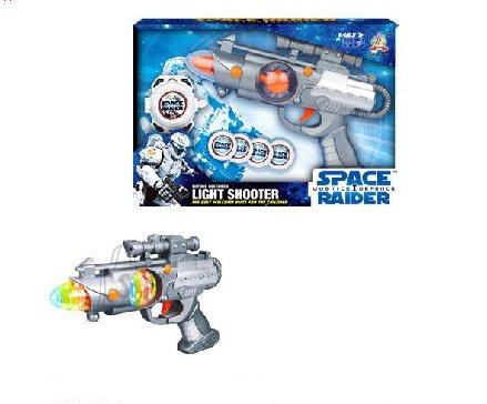 Relv Space Gun heli ja valgusega