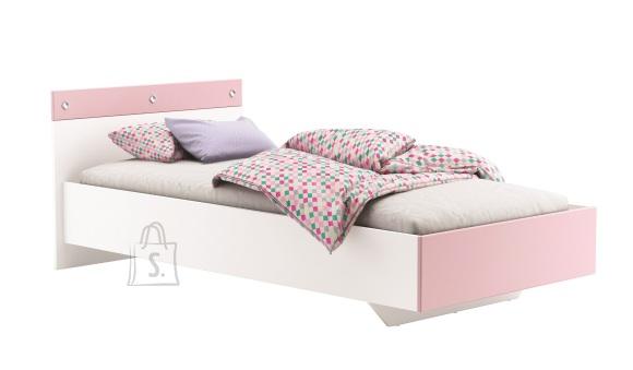 Demeyere lastevoodi Strassy valge - roosa 90 x 190 cm