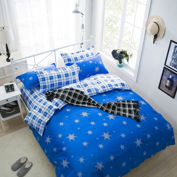 Voodipesukomplekt Stargazer Blue