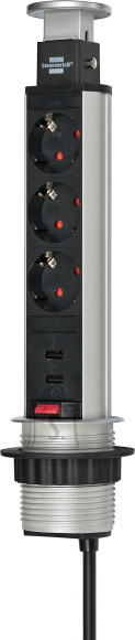 Brennenstuhl Pikendusjuhe süvistatav+2 USB