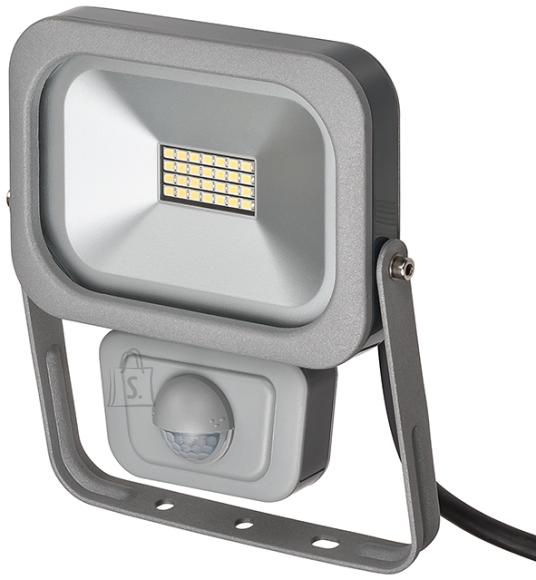 Brennenstuhl LED prozektor 10W SMD SLIM IP54 hõbe+PIR
